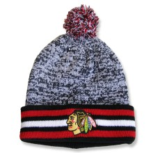 Chicago Blackhawks NHL Granite Cuff Pom Knit Hat