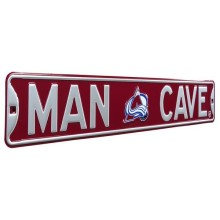 Colorado Avalanche NHL MAN CAVE Authentic Steel Street Sign