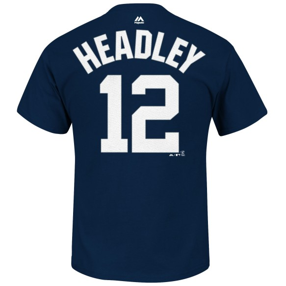 New York Yankees Chase Headley MLB Player Name & Number T-Shirt (Navy)