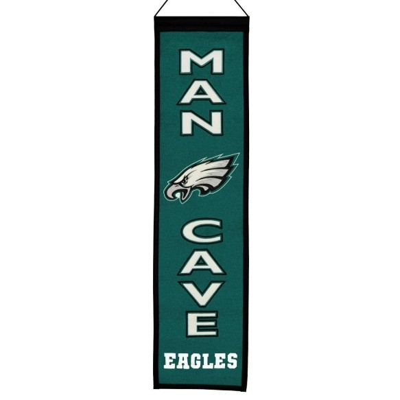 Philadelphia Eagles NFL MAN CAVE Wool Banner