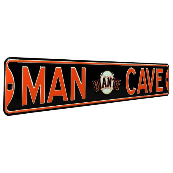 San Francisco Giants MLB MAN CAVE Authentic Steel Street Sign