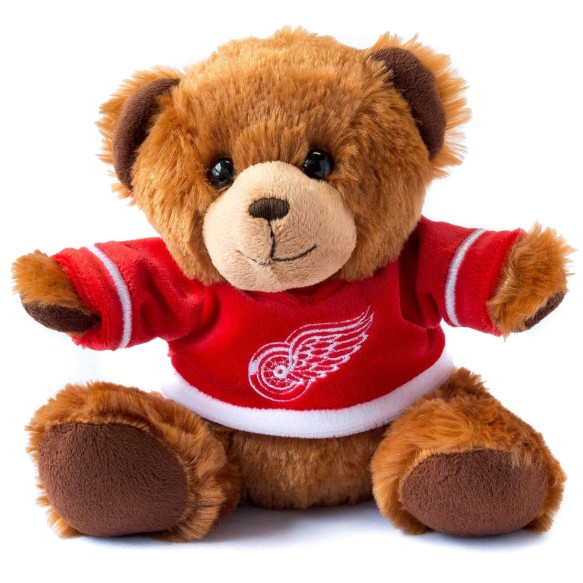 Detroit Red Wings 7.5 inch Seated Jersey Sweater Bear