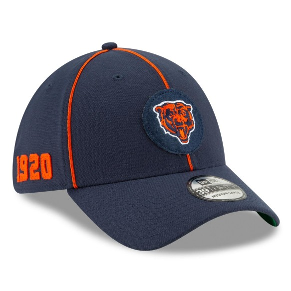 Chicago Bears New Era 2019 NFL On Field Home 39THIRTY Cap - Logo