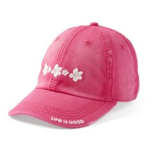 Life is Good Hibuscus Sunwashed Chill Cap - Pop Pink | Adjustable