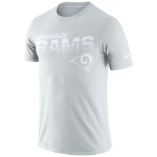 Los Angeles Rams NFL Nike Pale Gray NFL 100 2019 Sideline Platinum Performance T-Shirt