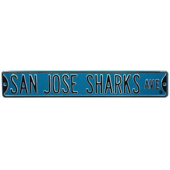 San Jose Sharks NHL Authentic Steel Street Sign