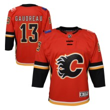 Johnny Gaudreau Calgary Flames NHL Premier CHILD (4-7) Replica Home Hockey Jersey