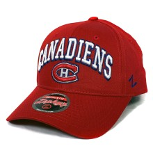 Montreal Canadiens Zephyr Sport Arch Cap - Red | Adjustable