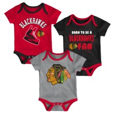 Chicago Blackhawks NHL Baby Even Strength 3-pc Creeper Set