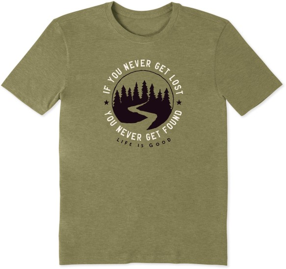 Life is Good Men's Get Lost Get Found Cool Tee - Fatigue Green
