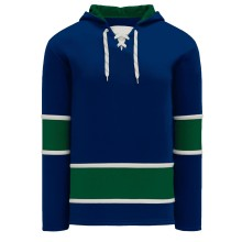 Vancouver Skate Lace Athletic Pro Hockey Jersey Hoodie - Royal