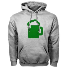 St. Patrick's Day Irish Beer Guzzler Twill Pullover Hoodie (Sport Gray)