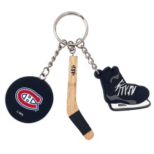 Montreal Canadiens NHL Stick-Puck-Skate Keychain