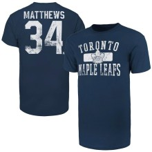Toronto Maple Leafs Auston Matthews '47 NHL Player Distressed T-Shirt