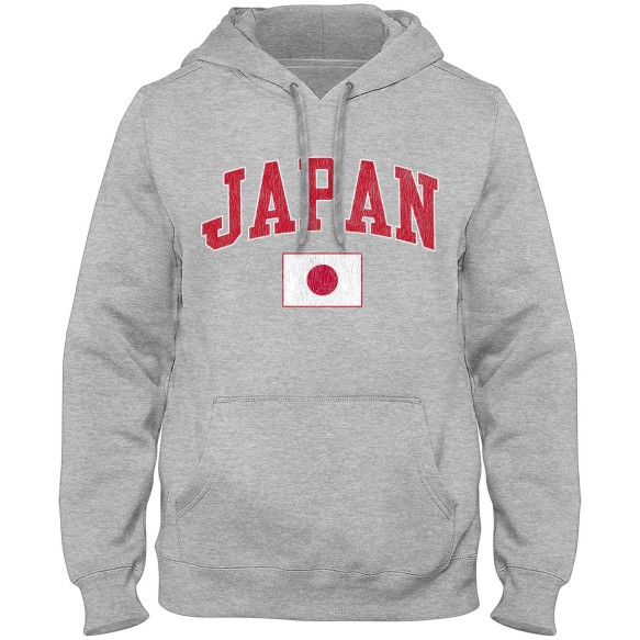 Japan MyCountry Vintage Premium Hoodie - Athletic Gray