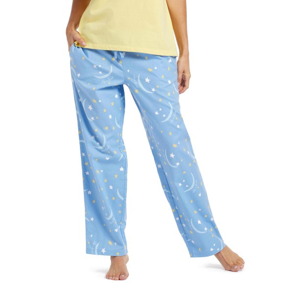 Life is Good Women's Moon & The Stars Classic Sleep Pant - Powder Blue