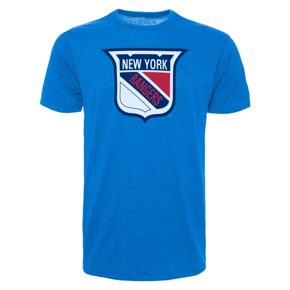 New York Rangers Vintage NHL `47 Bi-Blend Logo T-Shirt
