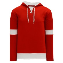 Detroit Skate Lace Athletic Pro Hockey Jersey Hoodie - Red