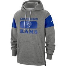 Los Angeles Rams NFL Nike Heathered Gray Historic Hoodie