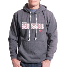 Detroit Red Wings Sideline Applique Lace Hoodie (Heather Charcoal)