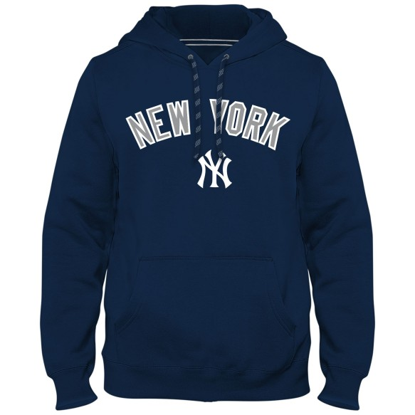 New York Yankees Express Twill Applique Home Field Hoodie - Navy