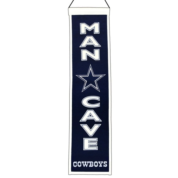 Dallas Cowboys NFL MAN CAVE Wool Banner