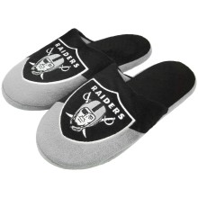 Oakland Raiders NFL Men's Big Logo Slipper 2.0