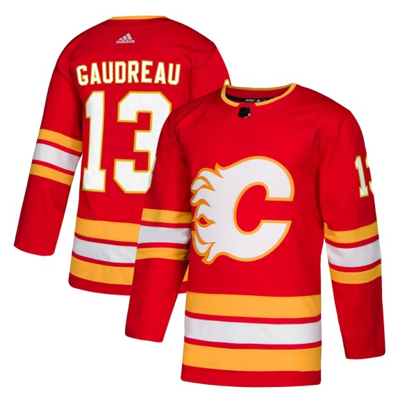 Johnny Gaudreau Calgary Flames adidas NHL Authentic Pro Alternate Jersey - Premade
