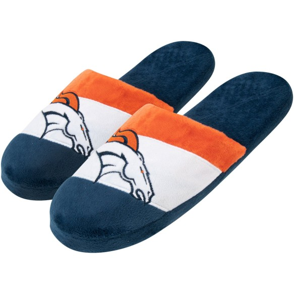 Denver Broncos NFL Men's Colorblock Slide Slippers