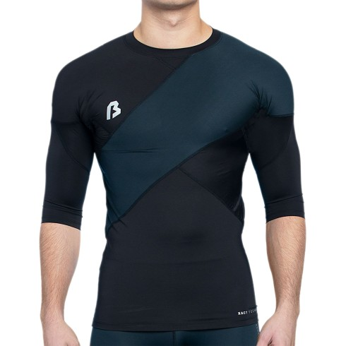 Bulletin Pro Sports X-ACT Performance LEFT Panel Compression Short Sleeve T-Shirt - Black