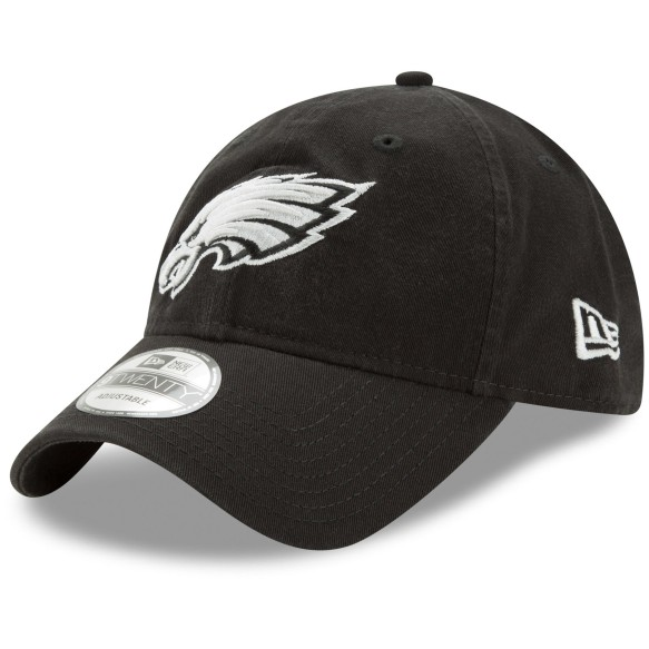 Philadelphia Eagles NFL New Era Core Classic Black Relaxed Fit 9TWENTY Cap  | Adjustable