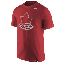 Team Canada IIHF Distressed Alternate Logo Tri-Blend T-Shirt - Red