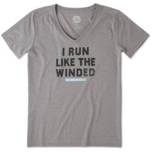 Life is Good Women's Run Like The Winded Cool Vee