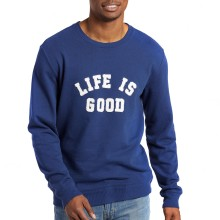 Life is Good Men's Simply True Crew - Darkest Blue
