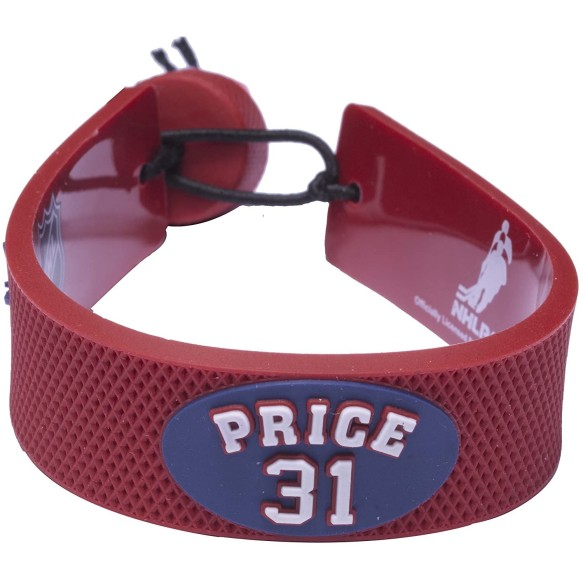 Montreal Canadiens Carey Price NHL Gamewear Team Color Rubber Bracelet