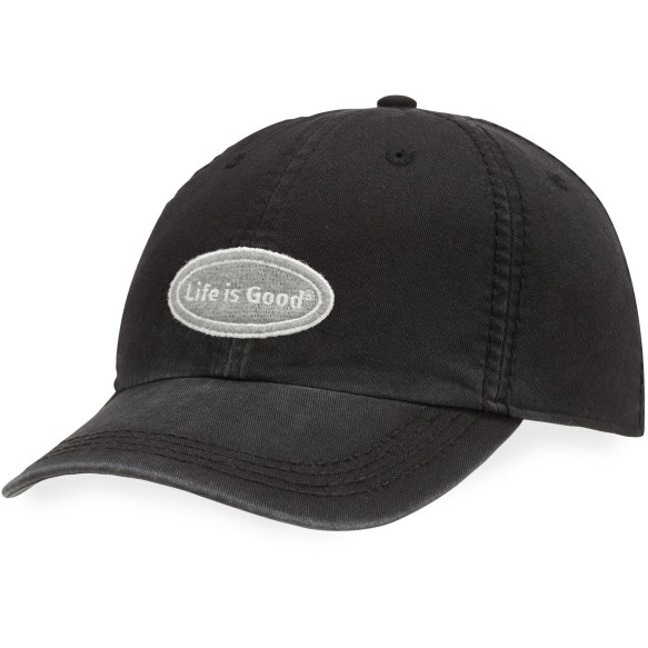 Life is Good LIG Oval Chill Cap - Night Black | Adjustable