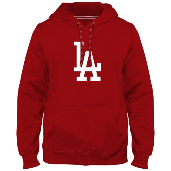 Los Angeles Dodgers MLB Express Twill Logo Hoodie - Red