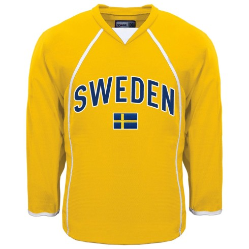 Sweden MyCountry Fan Hockey Jersey - Gold