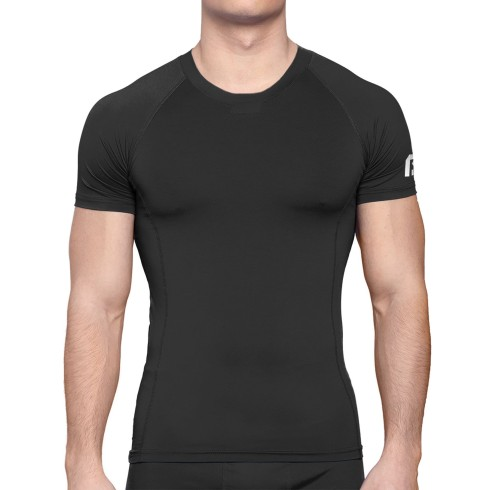 Bulletin Pro Sports Performance Base Layer Compression Short Sleeve T-Shirt - Black