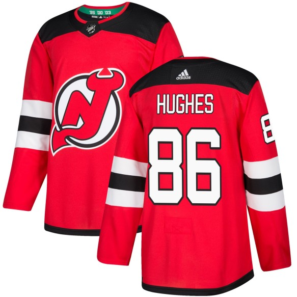 Jack Hughes New Jersey - Pro Stitched Devils adidas NHL Authentic Pro Home Jersey - Pro Stitched