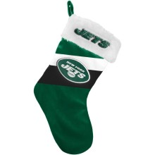 New York Jets NFL 17 inch Color Block Christmas Stocking