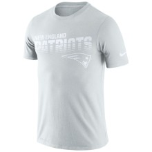 New England Patriots NFL Nike Pale Gray NFL 100 2019 Sideline Platinum Performance T-Shirt