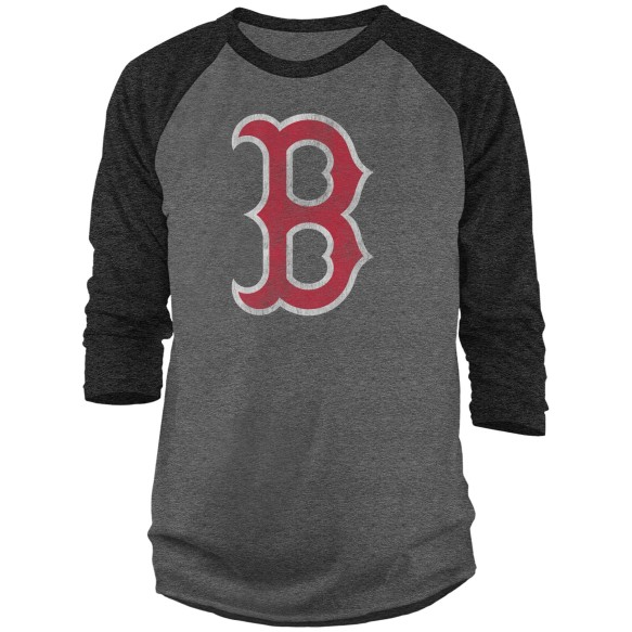 Boston Red Sox MLB Marled 3 Quarter Raglan T-Shirt