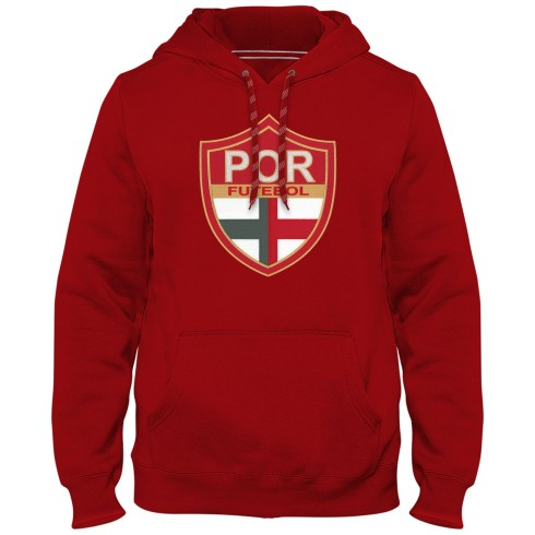 Portugal Futebol MyCountry Express Twill Logo Hoodie - Red