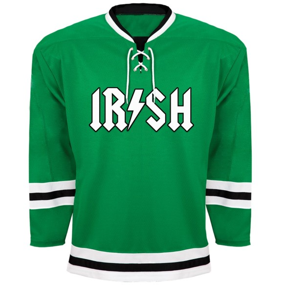 St. Patrick's Day Irish Rocker Hockey Jersey - Kelly