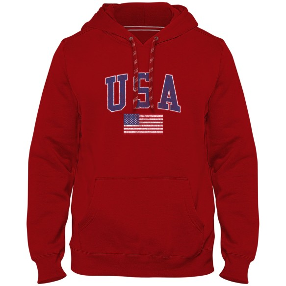 USA MyCountry Vintage Premium Hoodie - Red