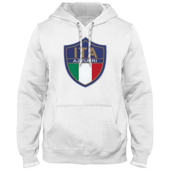 Italy MyCountry Express Twill Logo Hoodie - White