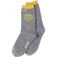 Life is Good Women's Hello Sunshine Crew Socks - Slate Gray