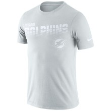 Miami Dolphins NFL Nike Pale Gray NFL 100 2019 Sideline Platinum Performance T-Shirt