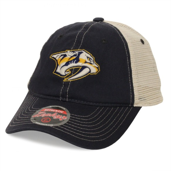 Nashville Predators NHL Zephyr Sideout Meshback Cap - Navy | Adjustable